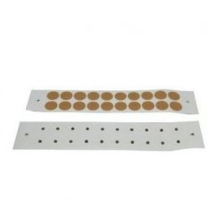 Bolitas metálicas adh. textil (magneticas 700 gauss y baño oro) 300 unidades