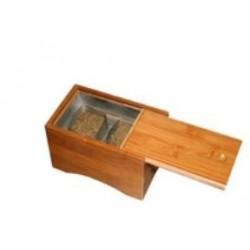 Moxador caja madera dos contenedores