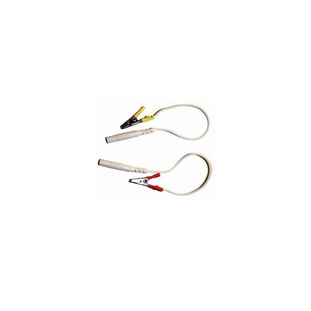 Pinza cocodrilo conector 2mm (2 unds.)