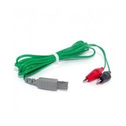 Cable verde tipo cocodrilo...