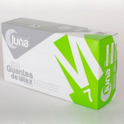 Guante LATEX sin polvo (beige)