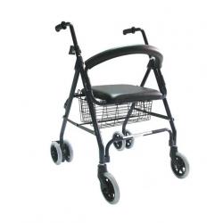 Andador con 4 ruedas y...