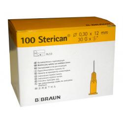 Aguja STERICAN 30G 1/2, 0,30 x 12, L (color amarillo)